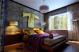 时尚带飘窗的卧室装修图片