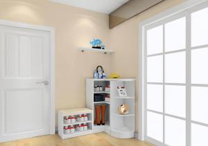 白色鞋柜设计