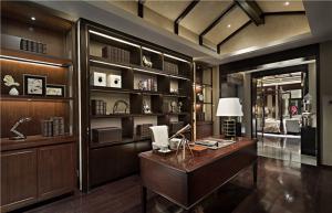 古典风整体书柜