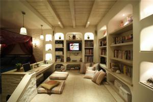 精美的整体书柜