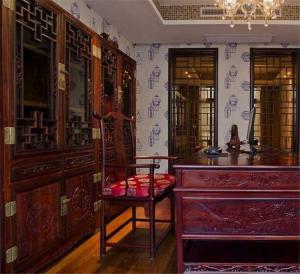 复古中式书柜