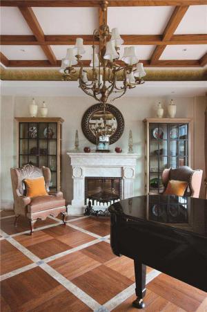 小清新新中式客厅家具图片