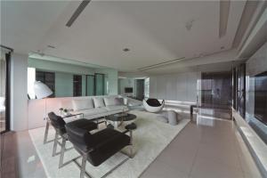 现代客厅沙发布局图片