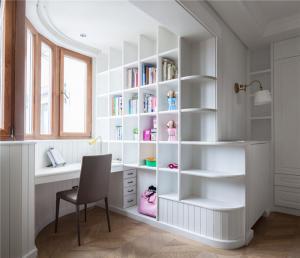 欧式书桌书柜组合