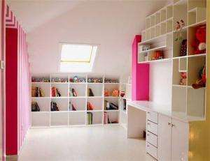 现代简约儿童房书柜