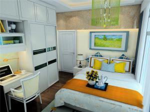 现代风格卧室转角书桌加衣柜