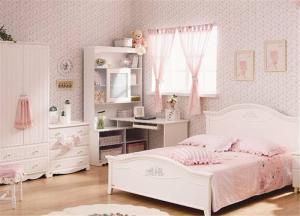 韩式卧室转角书桌加衣柜
