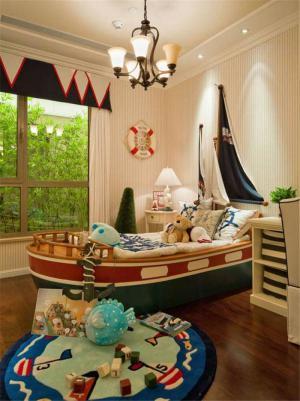创意床儿童房家装样板间