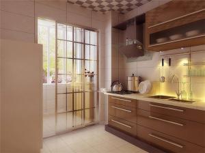 阳台改厨房效果图家具设计