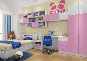 粉红儿童房家装样板间