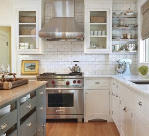 美式阳台改厨房效果图