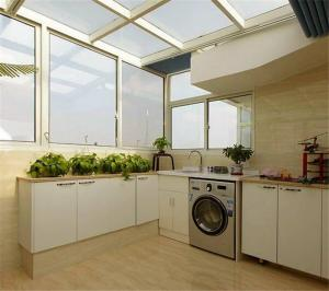 阳光阳台改厨房效果图