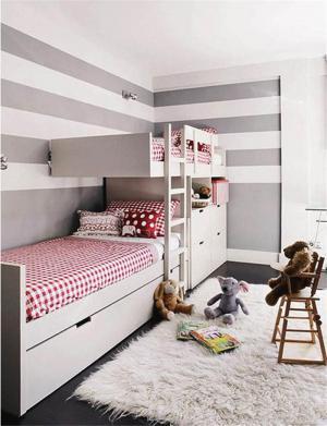 现代简约双人儿童房