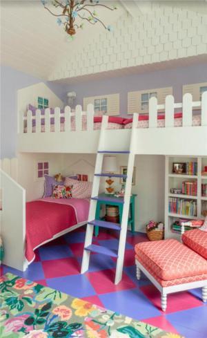 美式乡村双人儿童房