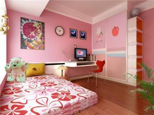 粉色调10平米儿童房设计