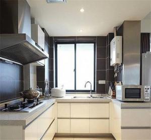 一体式阳台改厨房效果图