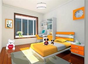 现代活力儿童房家装样板间