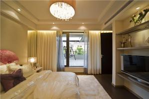 时尚欧式卧室装修样板间