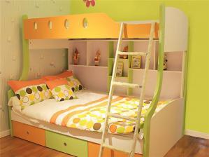 彩色小户型上下床装修