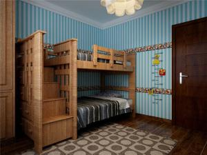 原木色小户型上下床装修