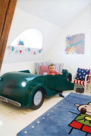 跑车床创意儿童房