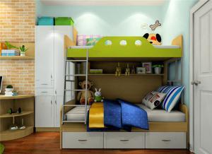 上下床带衣柜家具图片