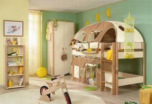 小房子儿童房双层床效果图