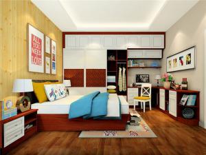 卧室转角书桌加衣柜定制图