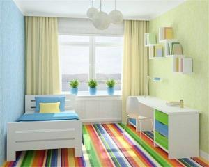 小清新儿童房装修效果图男孩