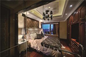 美式飘窗卧室设计图片