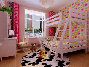 上下床儿童房背景墙