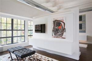 公寓背景墙电视柜图片