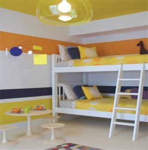 现代风格儿童房双层床效果图