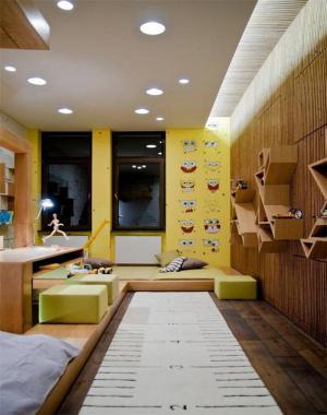 卡通儿童房榻榻米设计