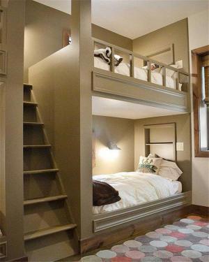 美式家具双人上下床