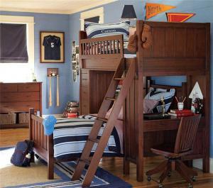 美式复古小户型上下床装修