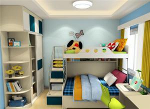 儿童家具上下床衣柜组合