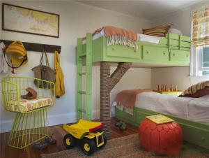 创意两个孩子儿童房设计