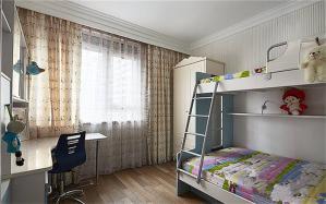 现代风格儿童房设计上下床