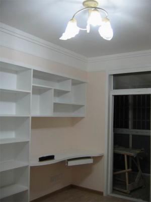 白色定制简易书柜