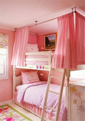 甜美风双人儿童房