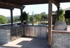 户外阳台改厨房效果图