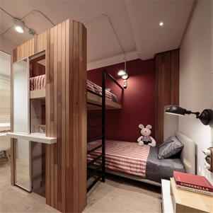 美式卧室上下床装修效果图
