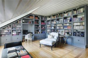 灰蓝色创意书柜