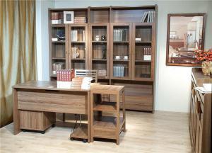立式书柜书桌组合