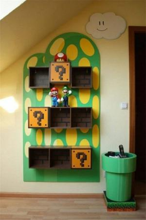 马里奥创意书柜