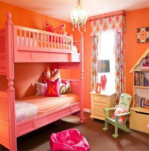 粉色双人儿童房