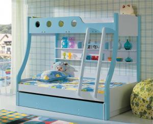 蓝色儿童家具上下床