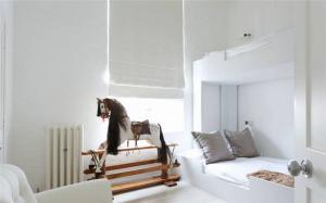 北欧风卧室上下床装修效果图