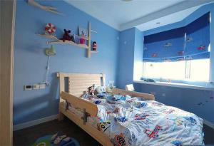 男孩硅藻泥儿童房效果图